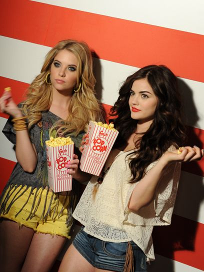 Pretty Little Liars stars Ashley Benson and Lucy Hale in Bongo's spring campaign