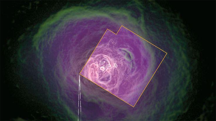 La última imagen que pudo captar un satélite, antes de desaparecer en el espacio