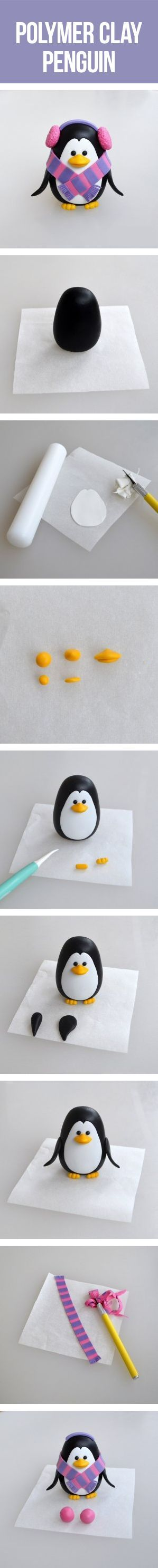 Polymer clay Penguin