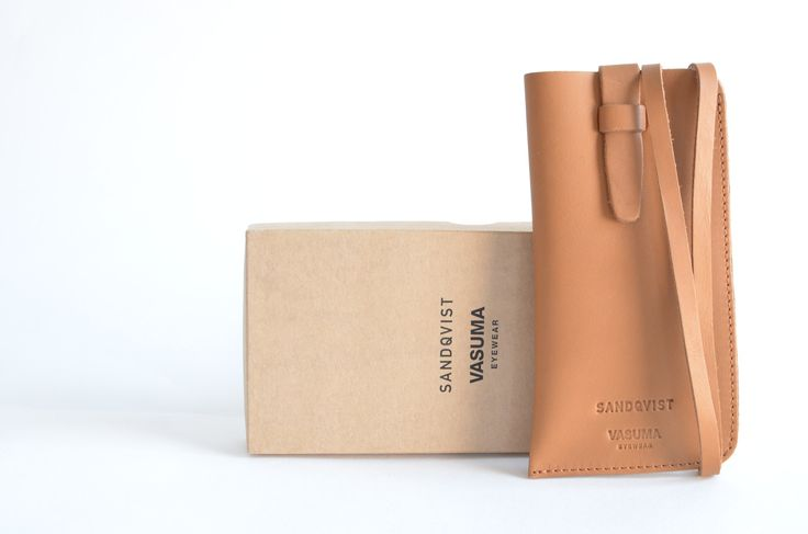 VASUMA x SANDQVIST Brown Eyewear Leather Case