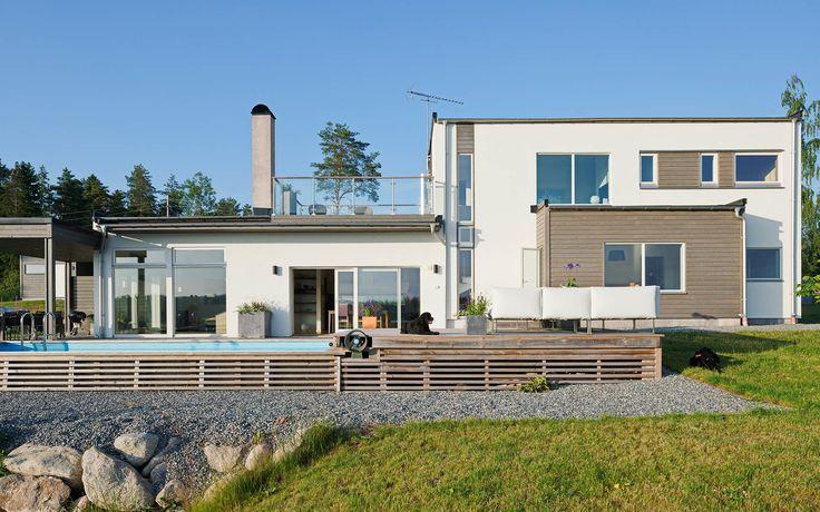"""Modernt hus A2665  """"Alla familjer är olika – därför är varje Willa Nordic unikt!"""" www.willanordic.se"""