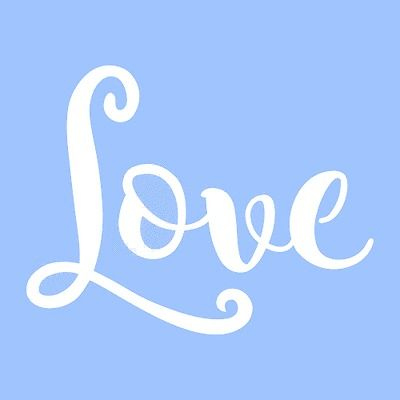 "5 1/2"" LOVE STENCIL WORD STENCILS TEMPLATE TEMPLATES PATTERN BACKGROUND NEW"