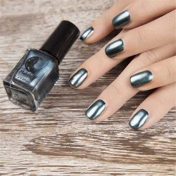 6 Colors Gorgeous Metallic Mirror Effect Nail Art Polish Varnish Top Coat Metal 6ml at Banggood