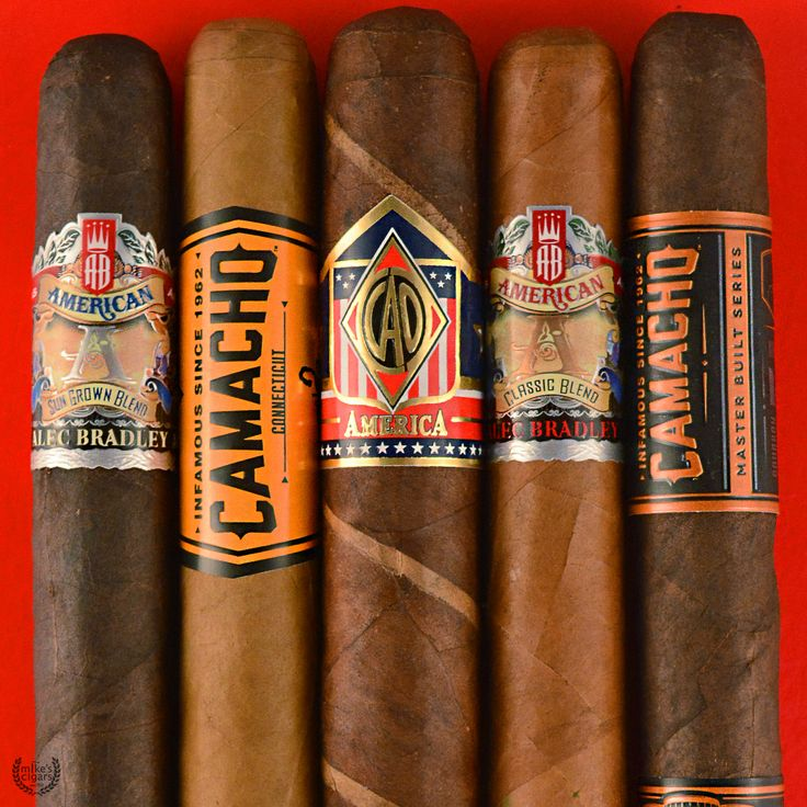 4th of July Cigar Sampler featuring Alec Bradley Sun Grown Blend, Camacho Connecticut, CAO America, Alec Bradley American Classic Blend, and Camacho American Barrel Aged