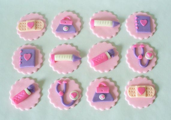 DOC MCSTUFFINS Tools Inspired Sparkly by SugarKissCakeToppers