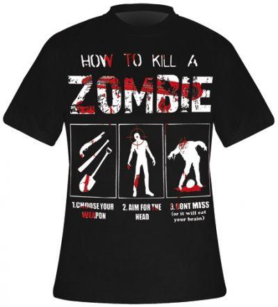 T-Shirt Mec DARKSIDE - How To Kill A Zombie