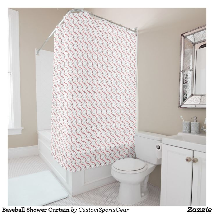 Baseball Shower Curtain Zazzle Com Gold Shower Curtain