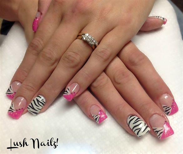 Images Of Zebra Print Acrylic Nail Tips Spacehero