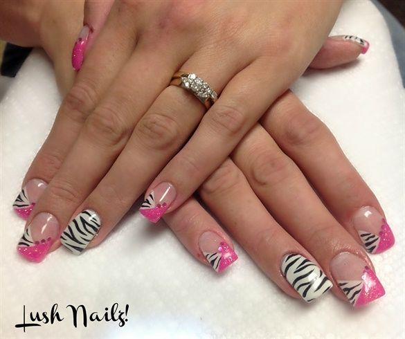 Best 20+ Zebra Acrylic Nails Ideas On Pinterest