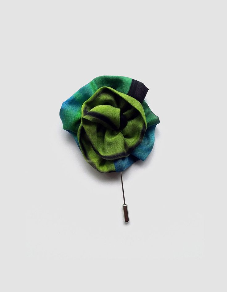 New to ImaPico on Etsy: Silk flower lapel pin green lapel flower for suit buttonhole elegant lapel pins for men under 15 gift for him small gifts for men UK (12.00 GBP)