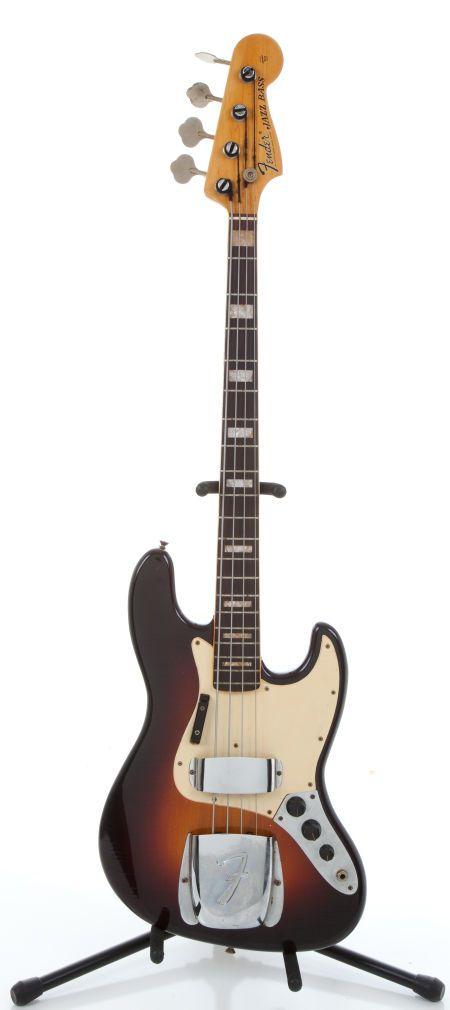 1968 Fender Jazz Bass Sunburst Electric Bass Guitar