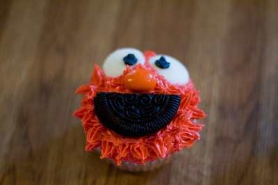 The Elmo cupcakes I am attempting this weekend for the rugrats birthday.