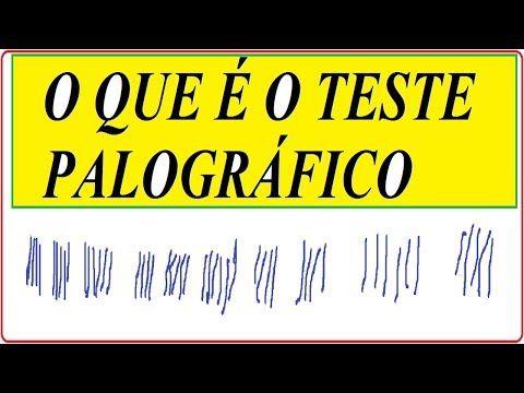 O que é o TESTE PALOGRÁFICO na Psicologia Exame do Departamento Estadual de Trânsito Detran Palografia   O Teste Palográfico foi criado por Salvador Escala Milá, na Espanha. No Brasil, sua divulgação e seu desenvolvimento foram realizados, sobretudo, por Agostinho Minicucci. O Exame Palográfico é um instrumento ou teste expressivo ou projetivo de personalidade originado da Ciência da Grafologia, que estuda: de forma geral a escrita e os sistemas de escrita; a forma das letras e do aspecto…