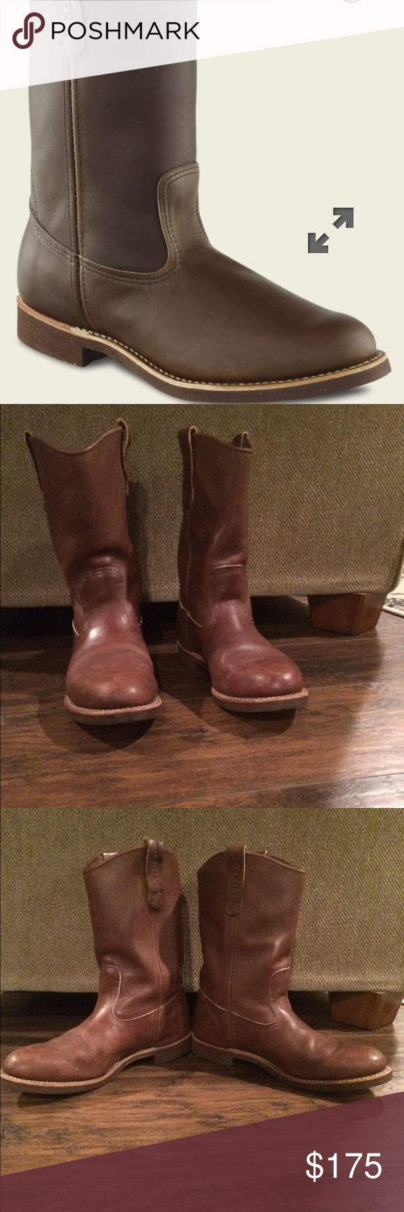Red Wing Pecos pull on boots 1178 Wore sparingly, never broken in. Red Wing Shoes Shoes Cowboy & Western Boots