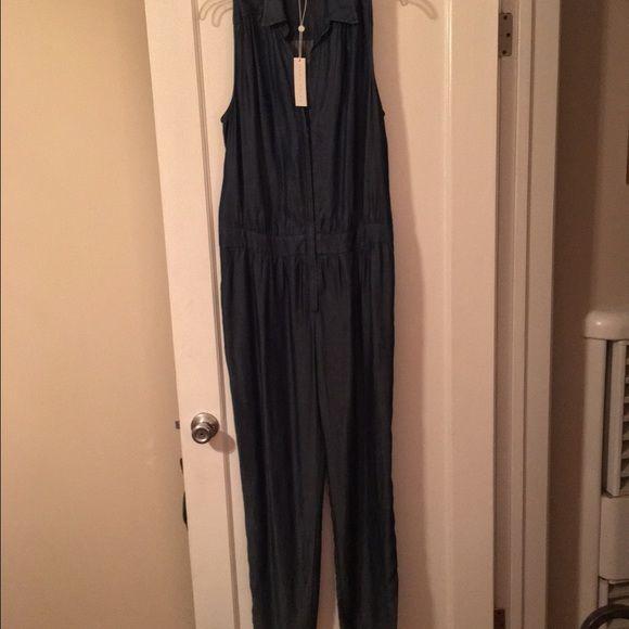 Trina Turk Jumpsuit Indigo fabric, blue sateen. Missing belt. Trina Turk Other