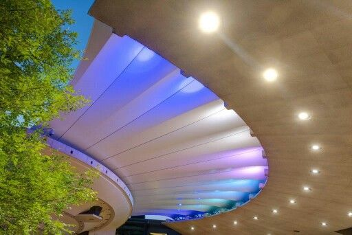 Shades of blue at UP amphitheatre. ARC Architects Pretoria design.