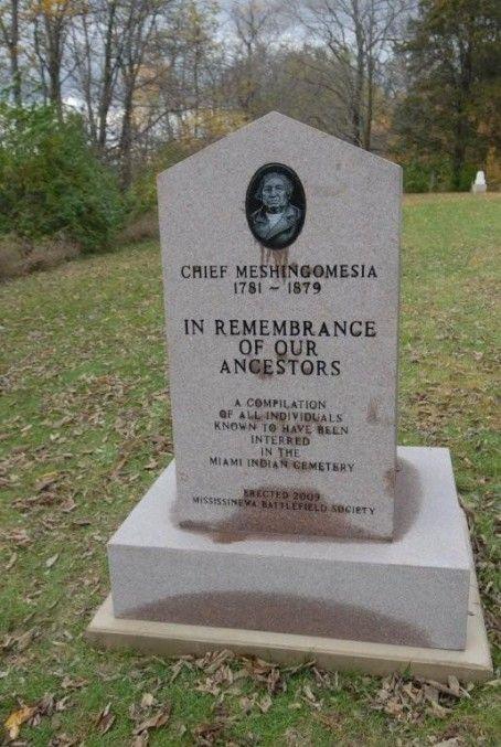 Miami Indian Cemetery - Meshingomesia monument - Marion Indiana - native american