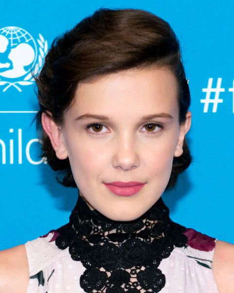 She may only be 13 but already Stranger Things star Millie Bobby Brown is working a chic 'do beyond her years.