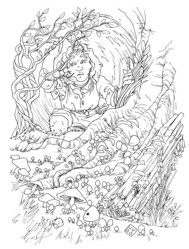 hobbit coloring page