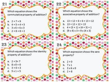 NUMBER PROPERTIES TASK CARDS - TeachersPayTeachers.com