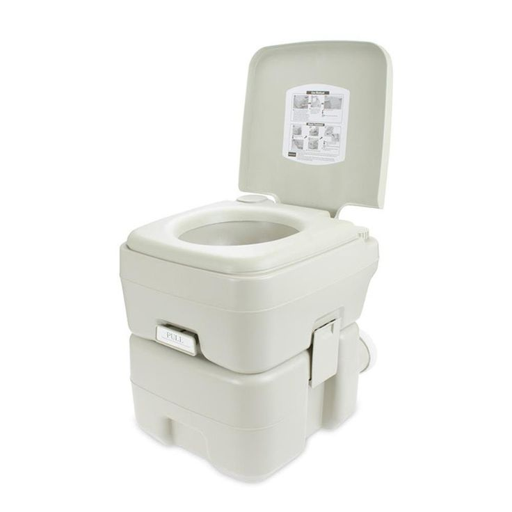 SereneLife SLCATL120 Portable Toilet - Outdoor & Travel Toilet, 5.3 Gal.