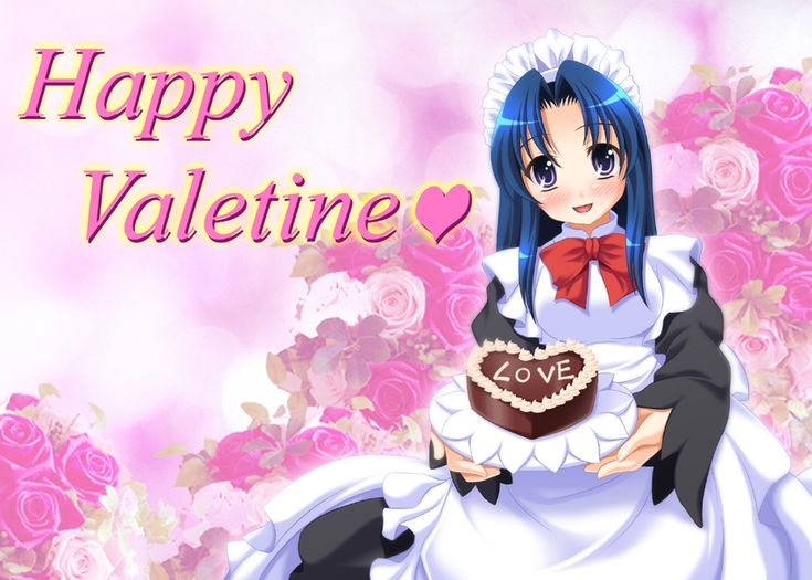 39 best images about anime valentine cards on pinterest - Happy valentines day anime ...