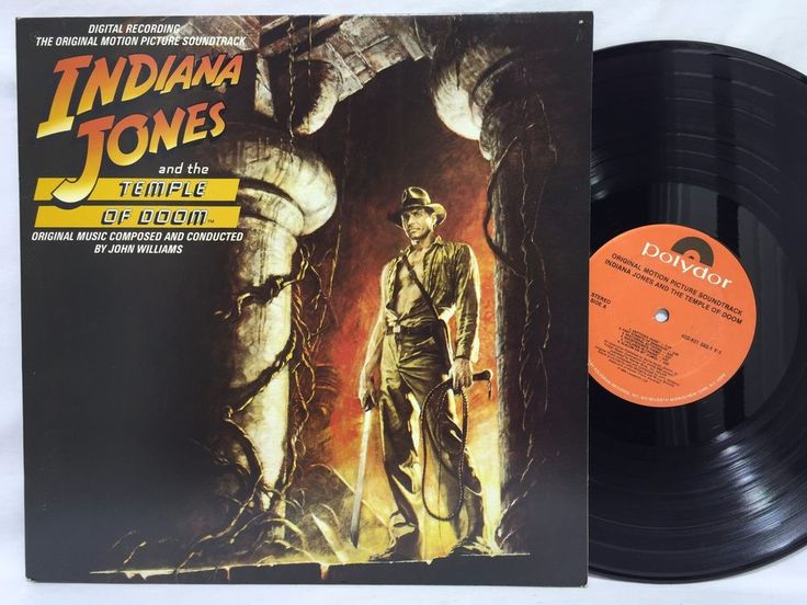 Indiana Jones and the Temple of Doom Original Motion Picture Soundtrack Record