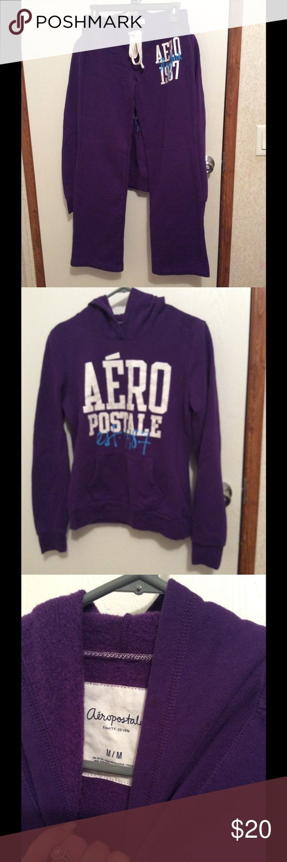 Purple Aeropostale Jogging Outfit 💕 Purple Aeropostale Jogging Outfit  shirt size medium pants size XS in great condition💕 Aeropostale Pants Track Pants & Joggers