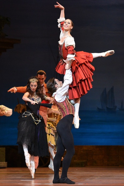 The Australian Ballet dancers Lana Jones and Daniel Gaudiello performing in Act 1 during a Don Quixote dress rehearsal at the State Theatre on March 14, 2013 in Melbourne, Australia. The Melbourne season of Don Quixote opens on March 15.