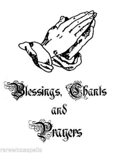 blessings chant cover wicca book of shadows parchment page