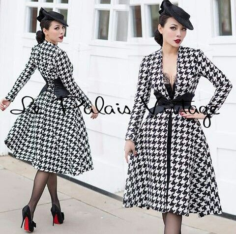 Le Palais Vintage. Houndstooth dress. 50s style.