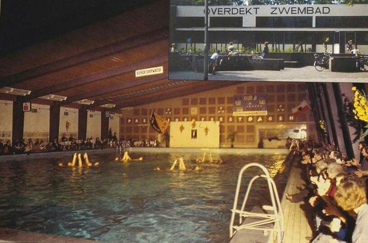 Overdekt zwembad aan de Smyrnastraat. Hier heb ik leren zwemmen