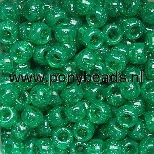 Haarkralen Smaragd Glitter / Pony Beads Sparkle Emerald