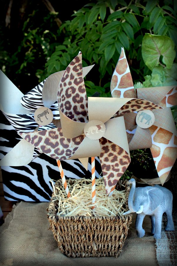 Safari Party Pinwheels | Sassaby