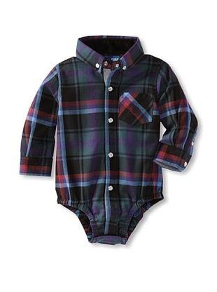 61% OFF Andy & Evan Baby Plaid Flannel Shirtzie (Black/Multi)