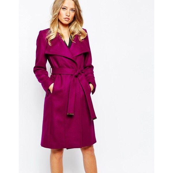 Magenta Wool Coat - Coat Nj