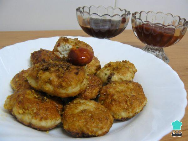 Receta de Nuggets de pollo con Doritos