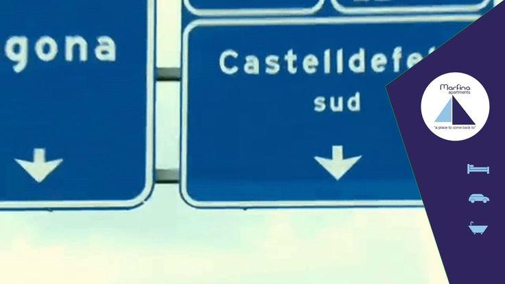 Recuérdalo! si vienes en coche hay que tomar la salidad 44. Estamos a tan solo 25 km de Barcelona y a un paso del mar mediterráneo #Marfina #apartamentos #turisticos en #Castelldefels Reservas:  marfina@marfina.com