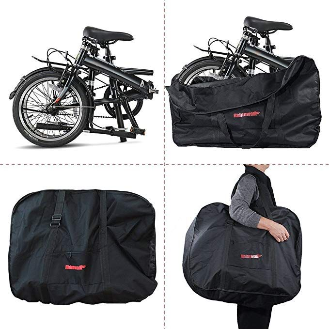 Folding Bike Bag Bicycle Travel Carry Bag 16 To 20 Inches Bike Storage Bag Outdoors Transport Case Black Folding Bike Bag Travel Bags Carry On Bike Storage Bag
