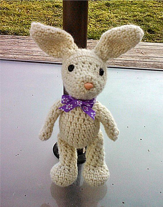 Crochet Bunny and Carrot Pouch Pattern 2 sizes