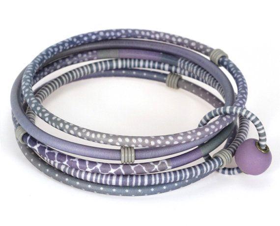 Lavender Five Bangle Bracelet by designforest on Etsy, $56.00