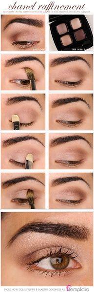 Donker bruin aanbrengen in oogkas