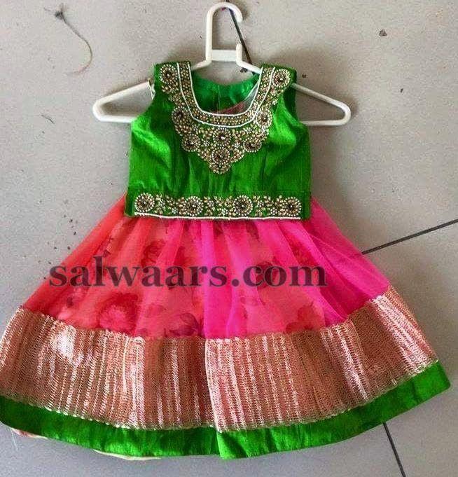 Jute Net Latest Floral Lehenga - Indian Dresses