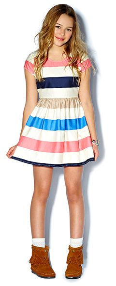 Junior Girls clothing, kids clothes, kids clothing | Forever 21 #Dress #stripes