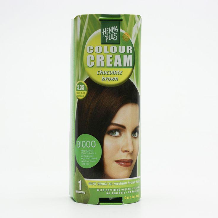 Henna Plus Přírodní barva krémová Čokoládová 5.35 60 ml - s hennou - krémové barvy - barvení - vlasy - kosmetika - BIOOO