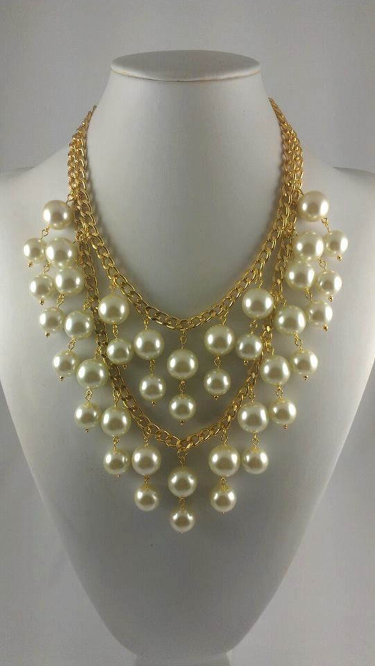 """Inspired by Two Broke Girls Necklace - My ACTUAL Rendition was WORN by CAROLINE on the episode """"And The Pearl Necklace"""", via Etsy."""