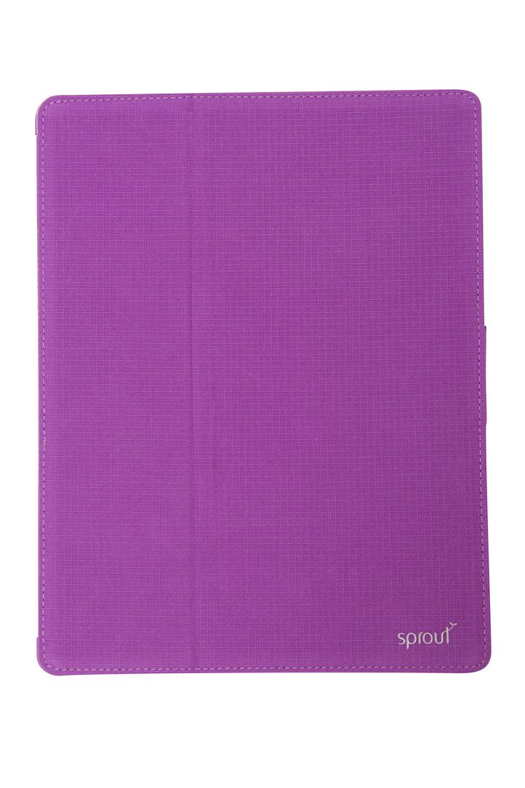 Introducing the Evoke from Sprout. This cover combines a sleek fabric covered design to protect and a built in stand to display your iPad Mini in a unique way. #ipadmini #purple #loveit #cool #case #cover #sprout #freedomtogrow #sleek #design #retinadisplay