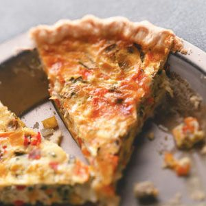 Rainbow Quiche Recipe: Quiches Recipes, Eggs, Cups, Dinners, Savory Recipes, Rainbows Quiches, Green Peppers, Vegetable, Crusts