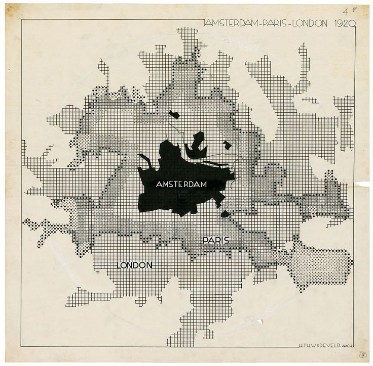 Wijdeveld, Chaos en Orde: 3 steden, 1920-1927