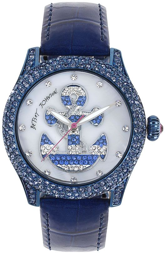 Betsey Johnson Anchor Dial Pave Crystal Watch.  WANT THE WATCH FOR THE REST OF THE NAUTICASL - FAB!